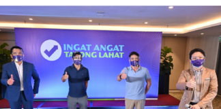 ngat Angat Tayong Lahat campaign launched as part of the private sector's support for Taskforce T3 (Test, Trace, Treat), the multi-se­­ctor initiative put together in April 2020 to work closely with the Department of Health (DOH), the National Task Force (NTF) against COVID-19, and the Inter-Agency Task Force on the Management of Emerging Infectious Diseases (IATF-EID). In photo, from left are: Melvin Mangada, TBWA/Santiago Mangada Puno's Managing Partner and Chief Creative Officer; Czar Sec. Vince Dizon, NFT Deputy Chief Implementer and Chief Testing; George Royeca, Angkas Chief Transport Advocate and lead proponent of Ingat Angat Tayong Lahat; and RJ Ledesma, Co-founder of Mercato Centrale.